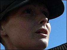 Ellen Paddock talking to BBC News