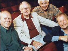 [L-R] Graeme Garden, Humphrey Lyttelton, Barry Cryer and Tim Brooke-Taylor