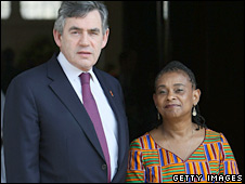 Gordon Brown and Doreen Lawrence