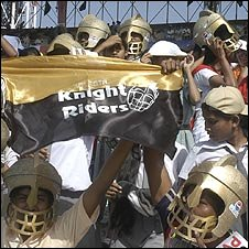 Young fans of the Kolkata Knighriders