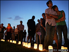 A vigil on the first anniversary of Hurricane Katrina