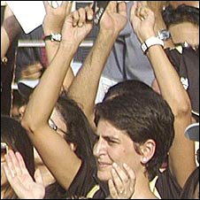 Priyanka Gandhi in the crowd
