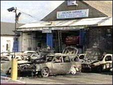 Garage where Lewis Murphy died