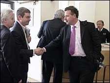 Ineos chief executive Tom Crotty meets union officials at Acas