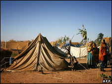 Darfuri women at a refugee camp in Chad, 2007