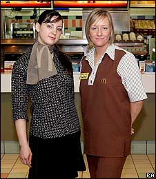 New and old McDonald's uniforms
