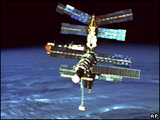 Mir space station in 1996