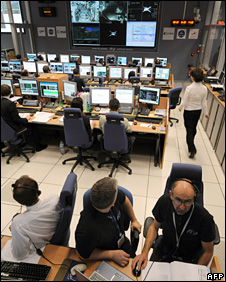 European Space Agency control room in France