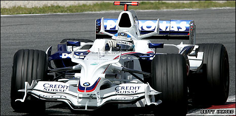 Nick Heidfeld in this season's BMW Sauber