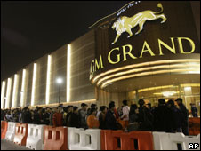 Queues at the MGM Grand casino