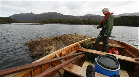 Eoghain on boat