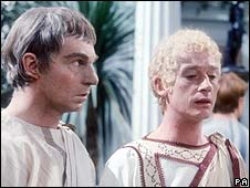 Derek Jacobi and John Hurt in I, Claudius