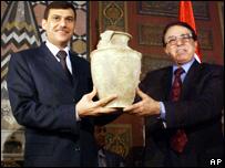 الوزيران العراقي والسوري