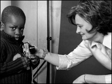 Cherie Blair with child