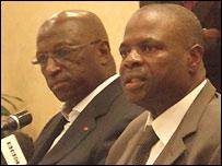 Jacques Anouma (left) and Amos Adamu