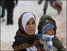 Algerian woman and child in Chrea Algeria