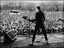 The Clash's Paul Simonon at Rock Against Racism Carnival 