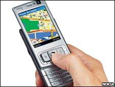 Nokia sat-nav (Nokia)