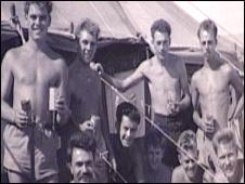 Herbert Tomlin as a young Royal Marine