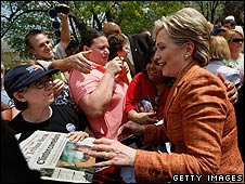 Hillary Clinton in Indiana, 23 April 2008