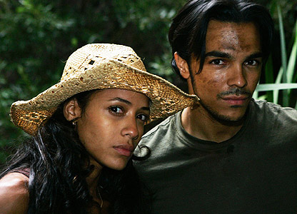 Dania Ramirez as Maya and Shalim Ortiz as Alejandro