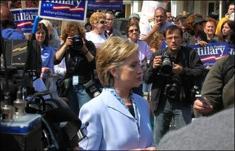 Hillary Clinton visits the Philadelphia Suburb of Conshohocken