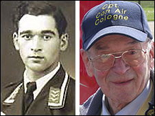 Willi Schludecker as a young pilot, and in 2008