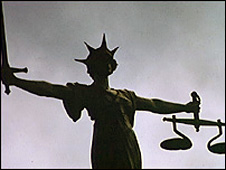 Scales of Justice statue at Old Bailey