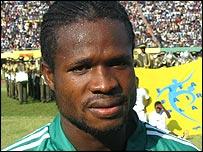 Nigeria and Udinese's Christian Obodo