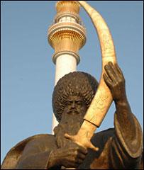 Памятник полумифическому туркменскому персонажу