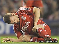 Liverpool left-back Fabio Aurelio
