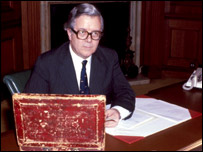 Geoffrey Howe on Budget Day 1981