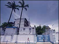 UN headquarters in Kinshasa