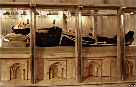 Body of Padre Pio on display