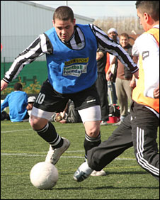 Nunsthorpe star striker Jason Chisholm