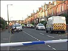 Scene at Compton Row in Harehills, Leeds