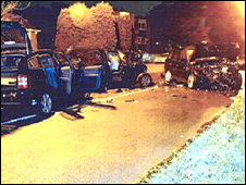 The scene of the crash in Streetly Lane (pic by the CPS)