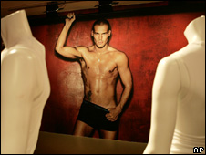 Swedish footballer Fredrik Ljungberg appears in an underwear ad