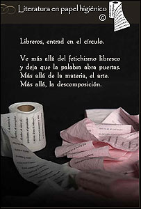 Papel higinico literario (Foto: pgina de internet de Emprendedores)
