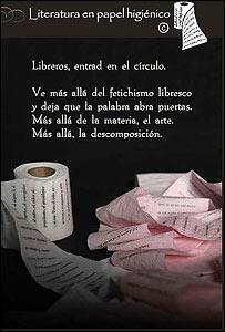 Papel higiénico literario (Foto: página de internet de Emprendedores)