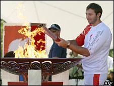 Torch being lit in Australia