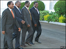 Members of the new Kenyan coalition government
