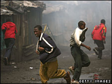 Rioting in Kenya Jan 08