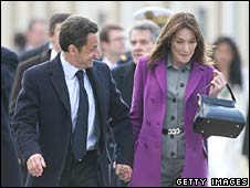President Sarkozy and Carla Bruni
