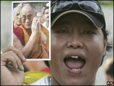 Pro-Tibet protesters in Bangkok, file image