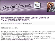 Harriet Harman website