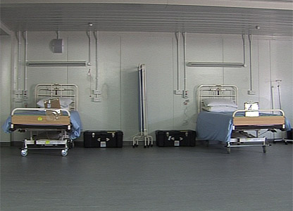 Beds in the recovery room