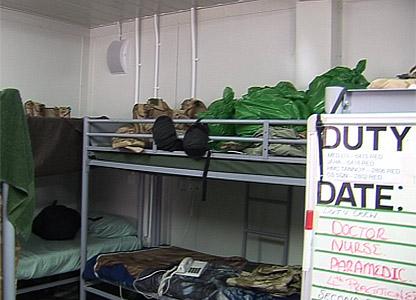 Sleeping quarters for medical emergency response team