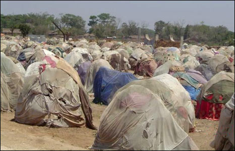 An IDP camp in Somalia. (Picture: Merlin)