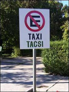Tacsi / Taxi sign